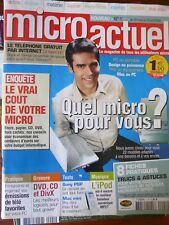 MICRO ACTUEL N°1 IPOD PSP SONY MAC MINI 8 FICHES PRATIQUES - 2005