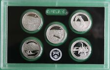 2014 S America the Beautiful Quarters Proof 90% SILVER ATB 5 Coin ONLY No BOX