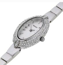 Seksy Ladies Oval Silver Dial Watch. New In box.