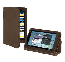 Samsung Galaxy Tab 2 7.0 Tablet Platform Stand Hemp Cover Case - Cocoa Brown
