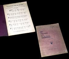 20 chansons pour les enfants partitions pour chant seul 1925 André Gédalge