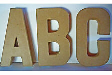 Papp Art-Pappbuchstaben A - Z, @ u.&-Größe 20,5 x 2,5 cm-Pappe-Pappmachè-Basteln