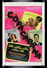 COPACABANA * CineMasterpieces COPA CABANA ORIGINAL GROUCHO MARX MOVIE POSTER '47