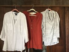 Lot of 3 Plus Size 3X GRACE ELEMENTS, AVENUE, BALANCE COLLECTION EUC