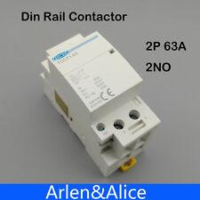 TOCT1 2P 63A 220V/230V 50/60HZ Din rail Household ac contactor 2NO