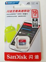 Sandisk 16GB NEW Ultra Micro SD SDHC Card UHS-I Class10 A1 98MB/s Full HD Video
