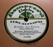 Berliner Schubert Chor, Leit.W.Hänel - Tord Foleson / Brüder zur Sonne ( 302)