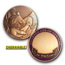 LDS / Mormon Baby Blessing Keepsake Challenge Coin (Baby Girl)