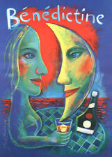 Original Vintage Poster Benedictine by Paul Davis 1993 Bar Wine Beverage French