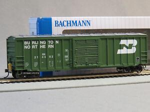 BACHMANN 50' OUTSIDE BRACED BOXCAR FRED HO SCALE CAR led light ETD BAC14902 NEW