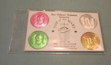 Vintage 1970's New Orleans Top of the Mart Lounge Mardi Gras Doubloon 4 Coin Set