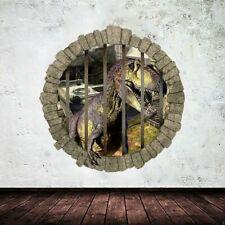 Pegatinas de pared 3d dinosaurio decoración del hogar adesivo de parede sala de