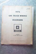 1976 GM Truck Wiring Diagram Booklet for Models 10-1500 thru 30-3500