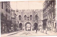 Postcard Southampton South Bargate Shops People Cycles Tramlines Postmark 1905