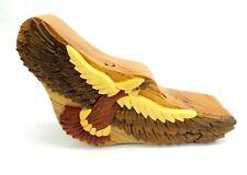 Hawk Wooden Puzzle Box Intarsia Wood Jewelry Trinket Box Collectible