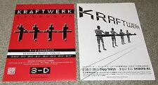 KRAFTWERK Japan PROMO concert tour handbill x 2 set MINI POSTER 2003 / 2013