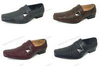 Brand New Men's Dress Shoes Loafers Elastic Slip On Crocodile Buckle Formal