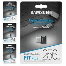 Clé USB Samsung FIT Plus 32 64 128 256 Gb Go clef USB 3.0 pour photo vidéo mp3