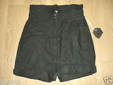 Kostym By Cheap Monday Women's Hight Waisted Black Linen Blend Shorts S New