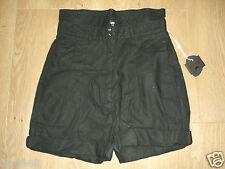 Kostym By Cheap Monday Women's Hight Waisted Black Linen Blend Shorts M New
