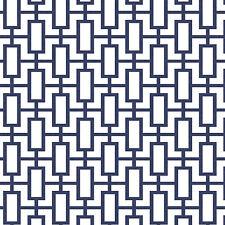 Navy White Geometric Wallpaper Modern Look DOUBLE roll SH34507
