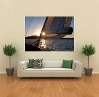 NATURAL SAILING BOAT SCENIC  NEW GIANT POSTER WALL ART PRINT PICTURE X1379