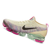 NIKE WOMENS Shoes Air Vapormax Flyknit 3 - Fossil, Pink & Blue - AJ6910-201