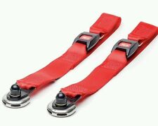 Solo static front wheelchair straps tongue & buckle unwin karabiner new