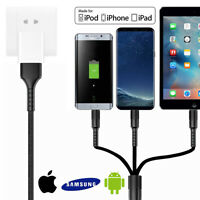 [High-Speed] Fast Micro USB&Lightning&Type C charger Cable Apple Android Samsung
