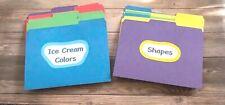 Set of 11 File Folder Games for Preschool Kindergarten Ready to Use Set 1 of 3