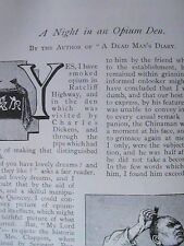 Night in Opium Den Ratcliff Highway London Rare Old Victorian Article 1891 Drugs