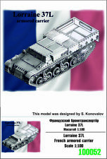 """ZEBRANO"" 100052 Lorraine 37L French armored carrier 1/100"