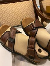 BRAND NEW IN BOX Dr. Scholls Mens Gus, Briar Brown Sandals 9M.