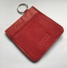Vintage Fabretti Red Leather Snap Top Card Coin Holder Wallet Slim Pocket - HH