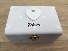 Shabby Hand Painted Chic jewellery Box Personalised Birthday Gift Friend, Girl