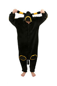 Umbreon Onesiee Kigurumi Fancy Dress Costume Hoody Pyjamas Sleep wear Bodysuit