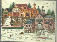 WYSOCKI,HARBOR LIFE Counted Cross Stitch Kit,DIMENSIONS1983,Shore; Boats; Sealed