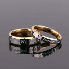 Chic Couple Ring Men/Women Forever Love 18K Silver Steel Wedding Engagement Band