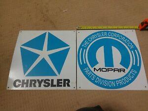 Chrysler/Mopar Tin Signs.