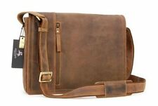 Visconti Laptop Case Messenger University Tablet Bag Real Leather Large Bag BNWT