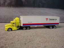 Bahari Racing Diecast Sleeper Cab 1: 87 Scale with TransAmerica Trailer