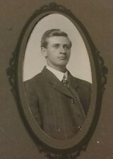 Vintage Old 1910's Cabinet Photo of Handsome Young Man from Newton Iowa Whitcomb