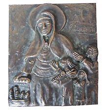 Bronze Relief Klara von Assisi 12,5 cm