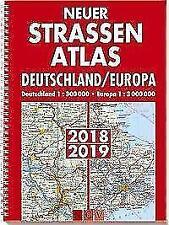 Neuer Straßenatlas Deutschland/Europa 2018/2019 (2017, Ringbuch)