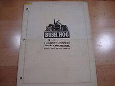 Bush Hog Rotary Cutter Operators Manual models 405 406