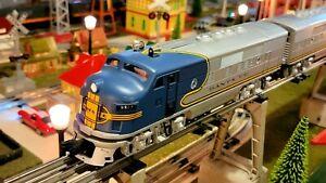 "Williams O Scale Santa Fe F3 ABA ""Blue bonnet"" loco set Lionel MTH K Line Atlas"