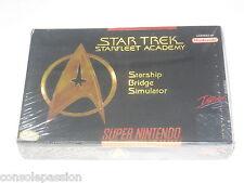 SUPER Nintendo SNES-STAR TREK Star Fleet Academy-USA NTSC NUOVO SIGILLATO IN FABBRICA