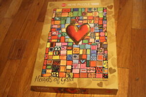 Heye The Heart Of Gold Abstract Love 1000 Puzzle - Stephanie Steinmayer