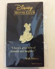 Disney Movie Club Exclusive VIP Anniversary Pluto Lapel Pin Gold tone NIP