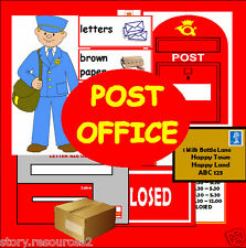 POST OFFICE ROLE PLAY teaching resources ks1 eyfs nqt sen Writing resource cd